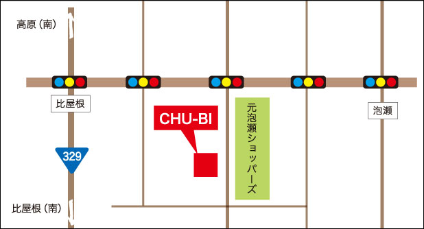 CHU-BI周辺MAP